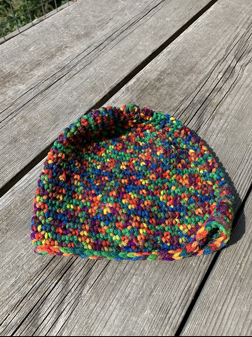 Youth Rainbow Knit Hat