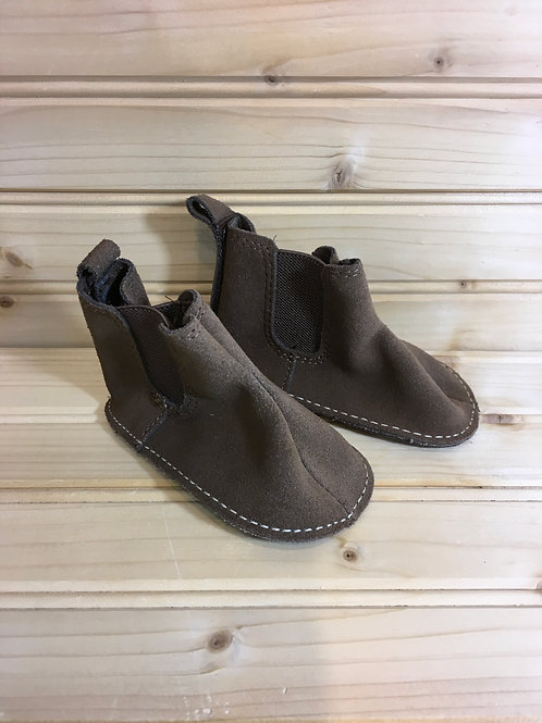 Size 12-18m Brown Infant Booties