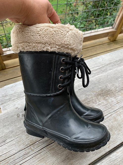 Size 10 Kids MUCK BOOTS Tall Lined Boot