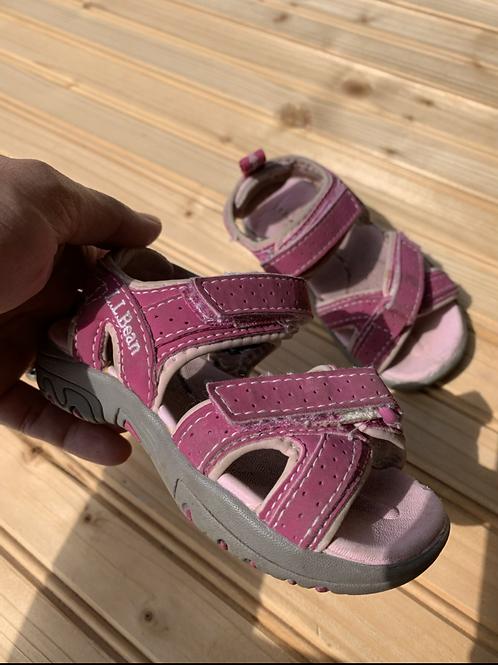 Size 5 Little Kids LL BEAN Pink Sandals