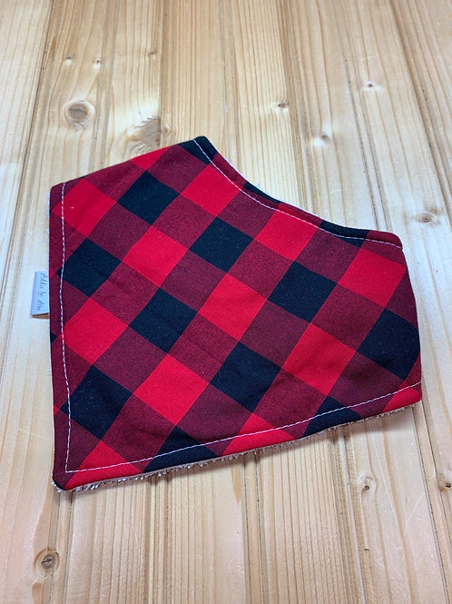 ADDIE & ABE Buffalo Plaid Bandana Teething Bib