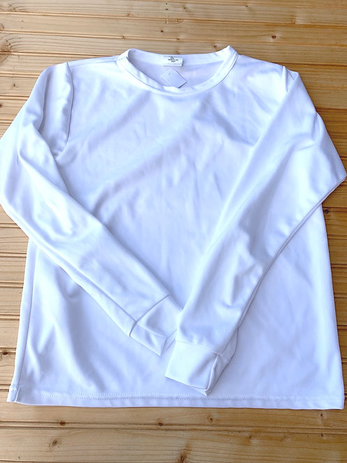 Size XL Kids White Longsleeve Shirt Under Layer