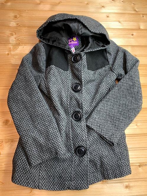Size 6X PINK PLATINUM Grey Herringbone Coat