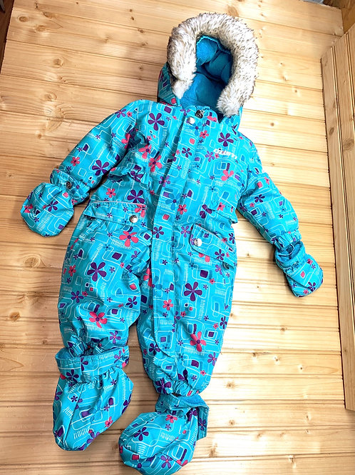 Size 6m GUSTI Teal Snowsuit