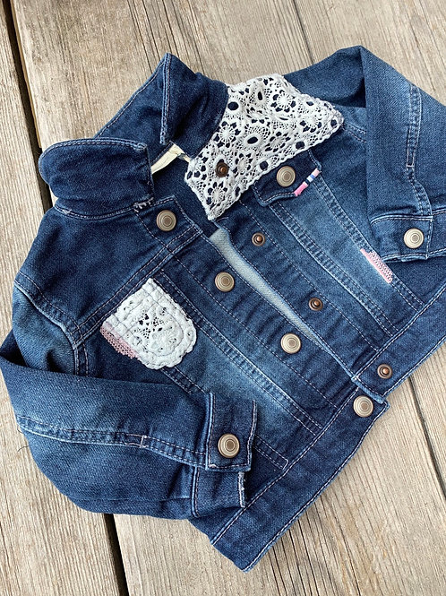 Size 12m Jean Jacket with Lace