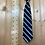 """11"""" Clip On Necktie, Black with Green and Blue"""