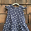 Size 2T Navy Cutout Dress with Dots