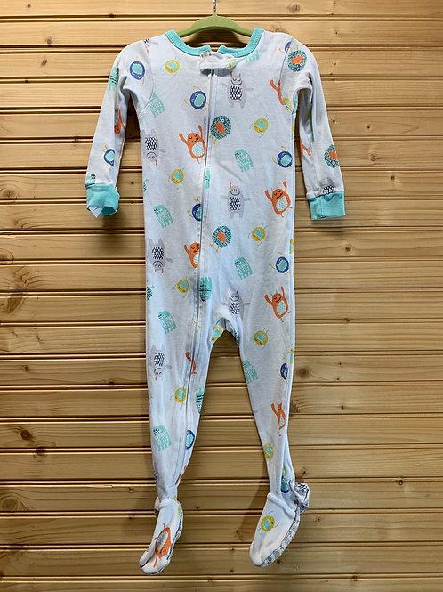 Size 18m CARTER'S Cotton Monster Footie Pajamas, Used