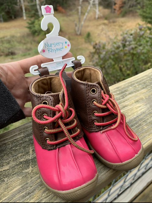 Size 4Toddler NEW Brown and Pink Boots
