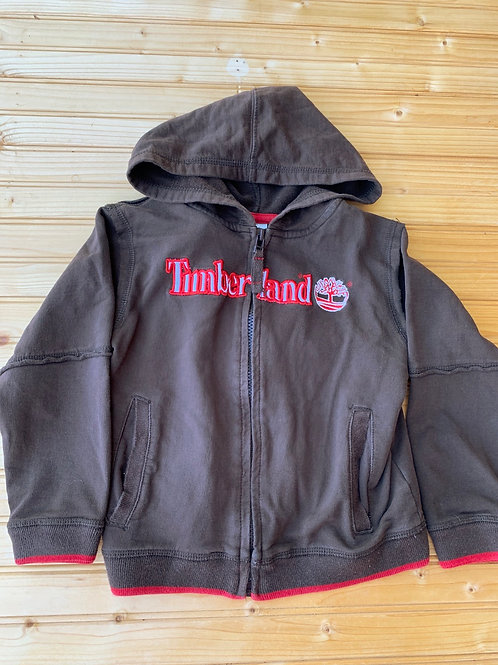 Size 5T TIMBERLAND Brown and Red Hoodie