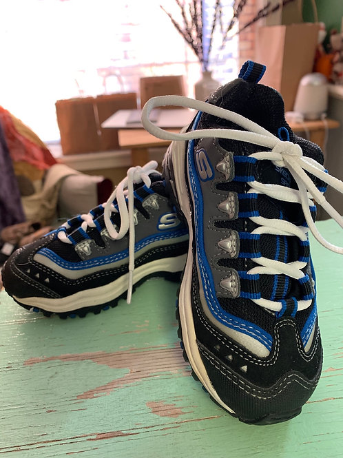 8 Kids - SKETCHERS - High Energy Black and Blue Sneakers