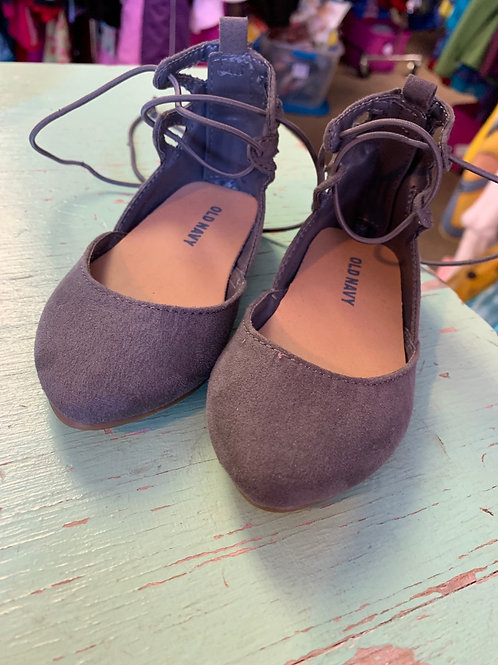 4/5 Toddler Grey Suede Ballet Style Shoes