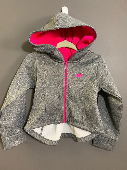Size 18m SKETCHERS Grey Hoodie with Pink