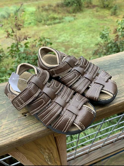 Size 10 Kids WONDER NATION Brown Sandals