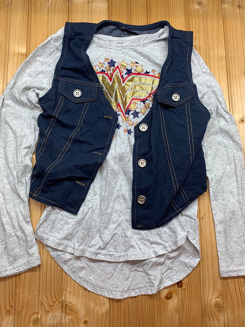Size 10/12 WONDER WOMAN Shirt and Vest