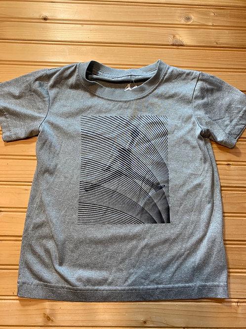 Size 4T AIR JORDAN Grey Dri-Fit Sport Shirt, Used