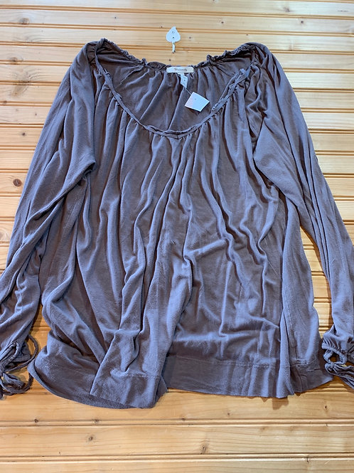 Size XL Maternity Brown Peasant Top