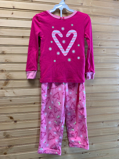 Size 3T 2pc Candy Cane PJ, Used
