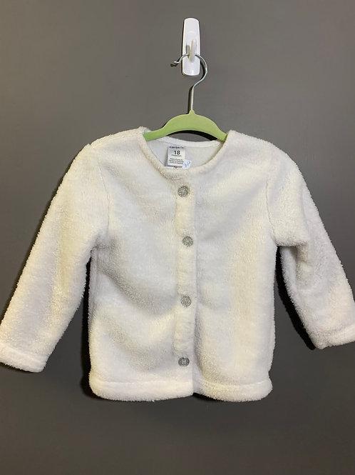 Size 18m CARTER'S Fuzzy White Cardigan