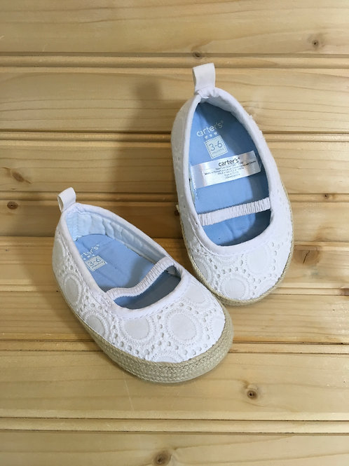 Size 3-6m CARTER'S White Lace Mary Janes