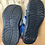 Size 11 Little Kids BULLFROGS Grey and Blue Water Sandals