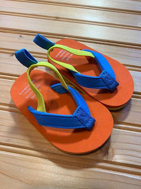Size 3 Infant Orange Flip Flops