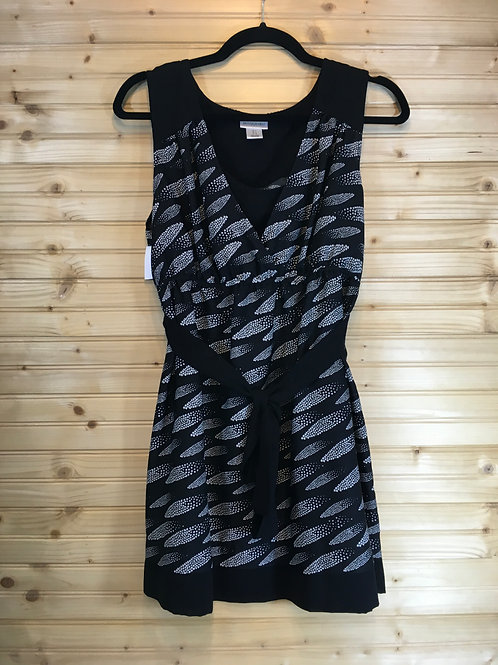 Size L MOTHERHOOD Black Print Maternity Tunic