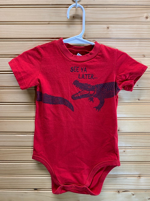 Size 18m See Ya Later Alligator Red Onesie, Used