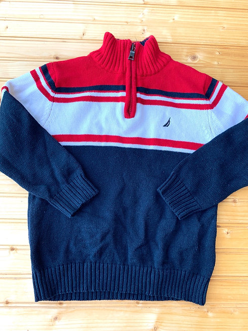 Size 4T NAUTICA Red, White and Black Knit Sweater