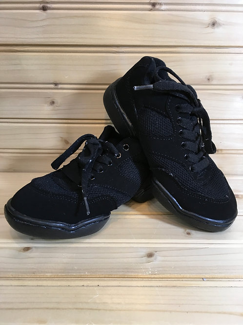 Size 2 Youth BLACK DANCE SNEAKER