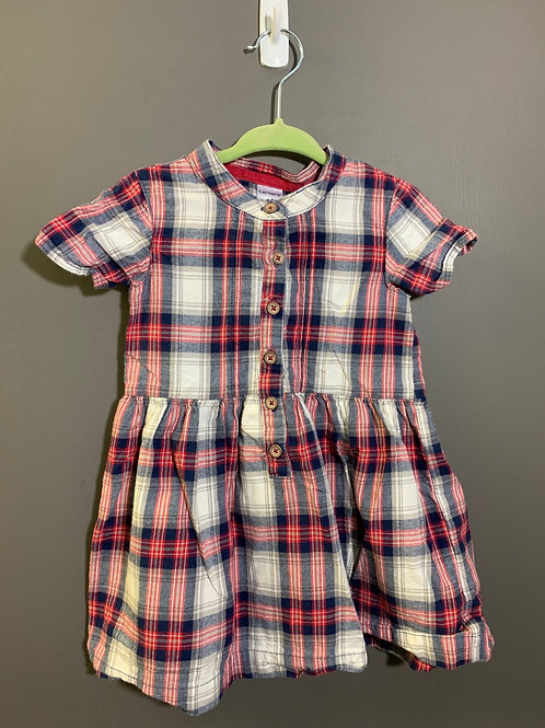 Size 18m CARTER'S Plaid Red Short Sleeve Dress