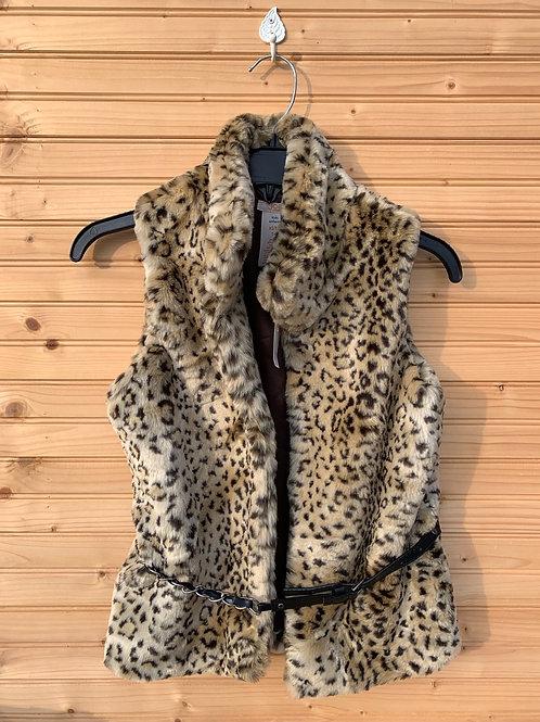 Size 14 Youth JOE FRESH New Leopard Print Fuzzy Vest