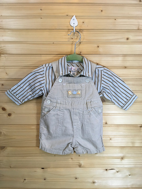 Size 0-3m CARTER'S / CHILDREN'S PLACE Mixed Tan and Blue Outfit