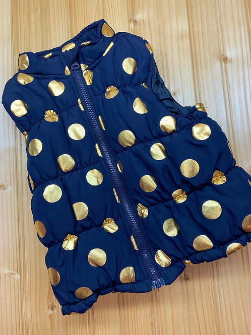 Size 3T Navy and Gold Puff Vest