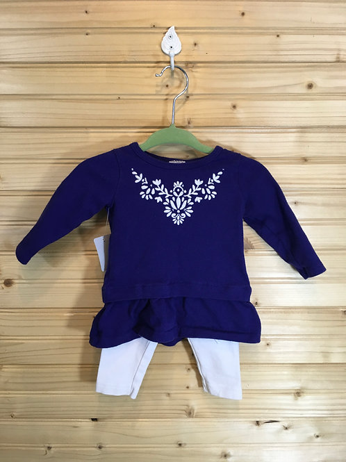 Size 3m CARTER'S 2pc Blue and White Outfit