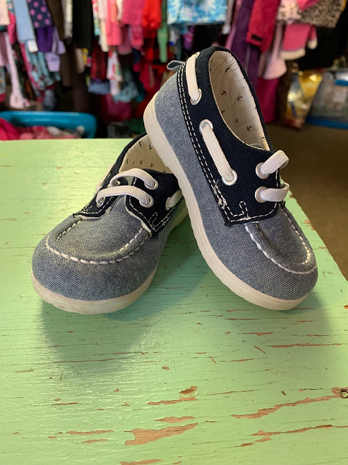 4/5 Toddler Blue Boat Shoes