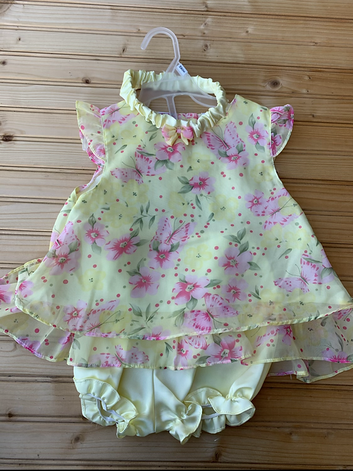 Size 24m LITTLE LINDSEY 3pc Yellow Dress Set, Used