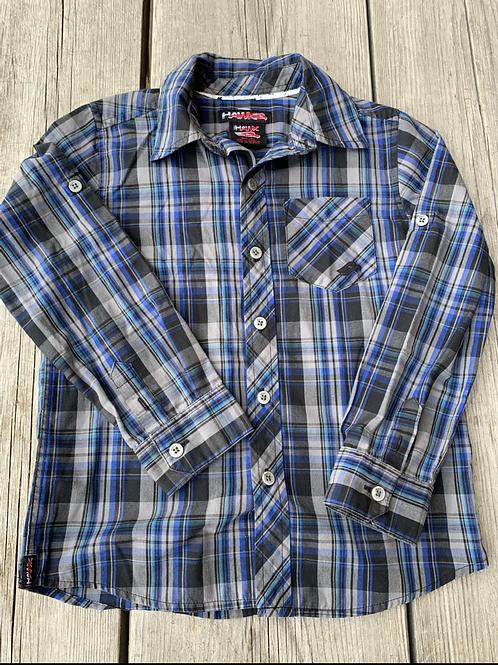 Size 5/6 TONY HAWK Blue Plaid Shirt