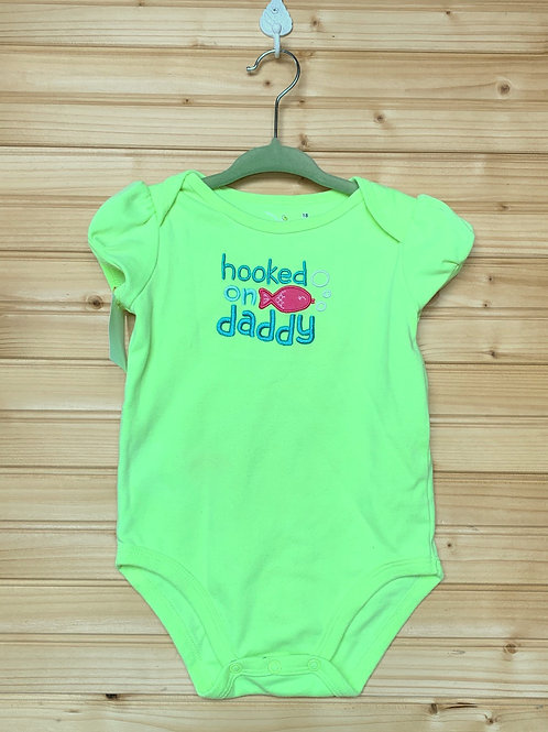 Size 18m Hooked on Daddy Fish Onesie, Used