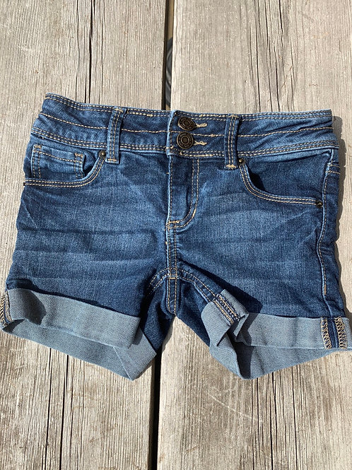 Size 7 Girls MUDD Jean Shorts, Used