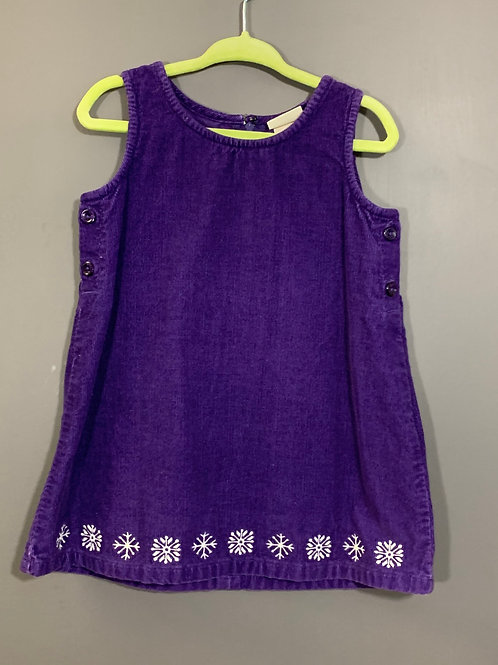 Size 12/18m LL BEAN Purple Corduroy Dress, Used