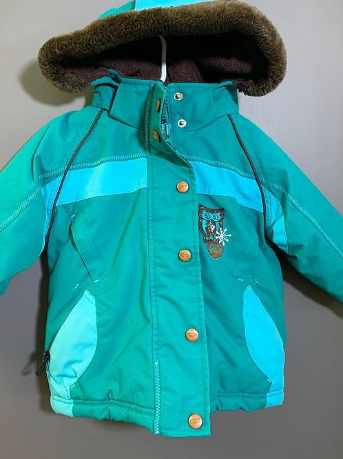 Size 24m GUSTI Teal and Brown Owl Winter Jacket
