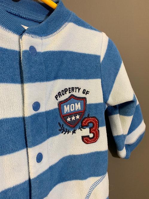 Size 9m CARTER'S Property Of Mom Fleece PJ