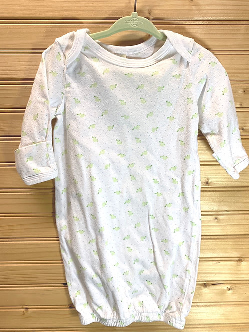 Size 0-3m White with Green Frogs Open PJ