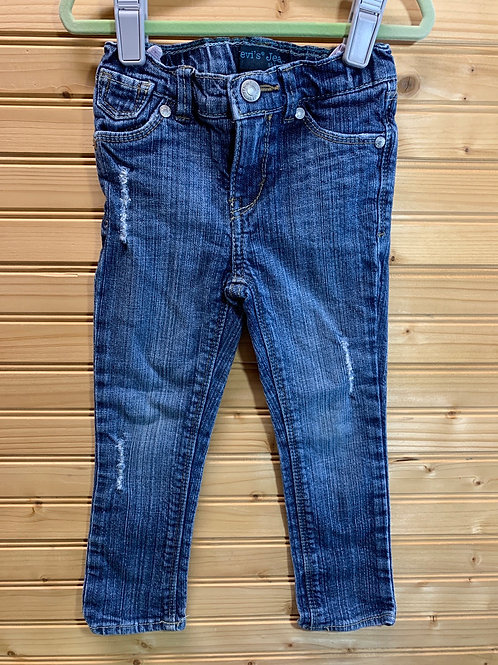 Size 3T LEVI'S Skinny Fit Distressed Jeans, Used