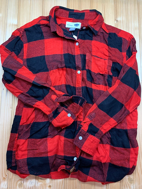 Size 10/12 OLD NAVY Buffalo Plaid Boyfriend Shirt
