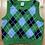Size 24m CARTER'S Blue Shirt with Argyle Vest