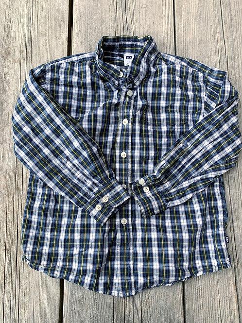 Size S (6/7) GAP Blue Plaid Shirt