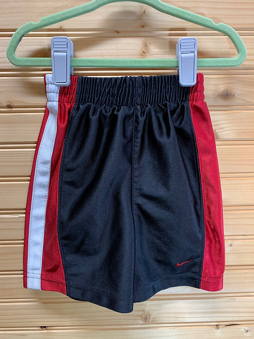 Size 18m NIKE Red and Black Shorts, Used