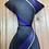 "15"" Clip On Necktie, Grey with Purple"